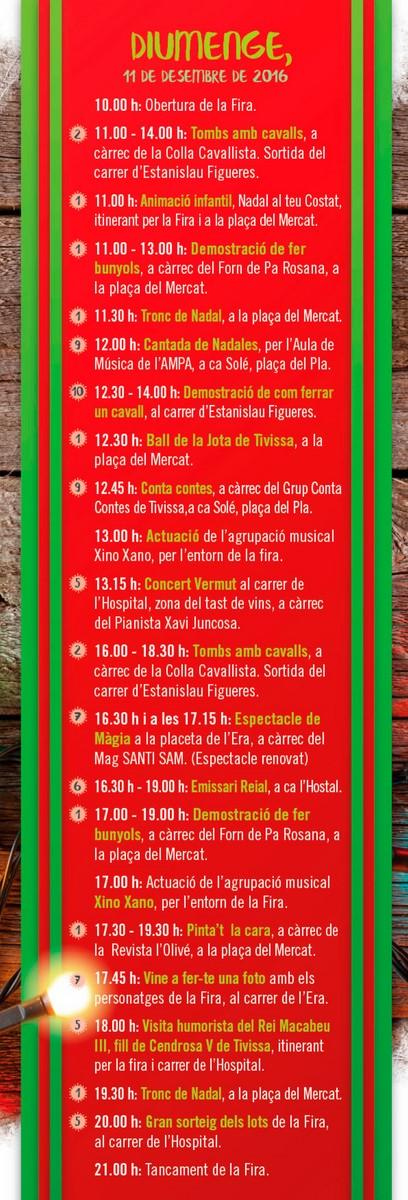 Fira de Nadal Tivissa, desembre 2016